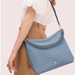 Kate Spade Polly Convertible Shoulder Bag-Blue-NWT